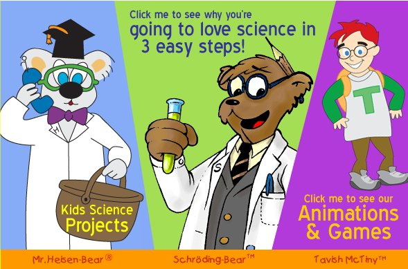 funny science. Animations, funny games