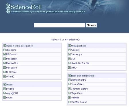 scienceroll-search