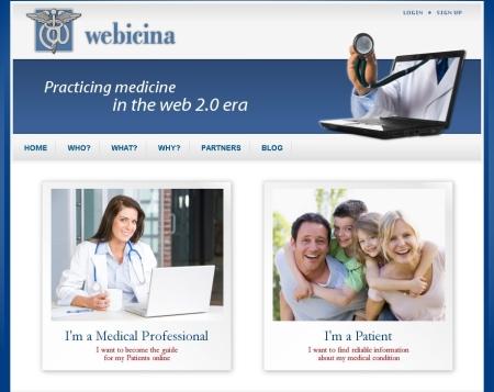 Webicina.com main page