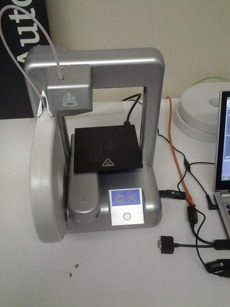 This is a 3D printer, could be used at home too.