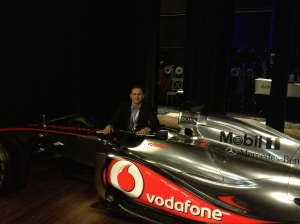 You would never expect to see a Formula-1 car at a TEDx event.