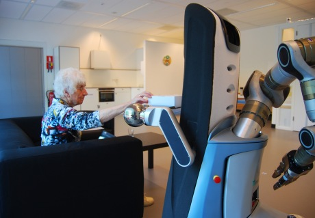 A Robot companion for the elderly